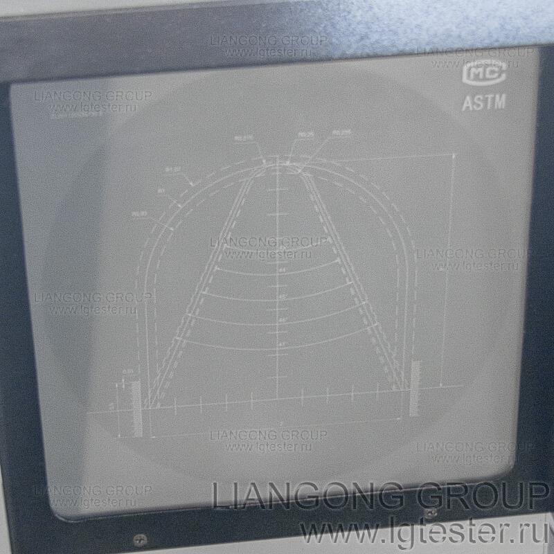 Профильный проектор CST-50 фото экрана с нанесенной шкалой